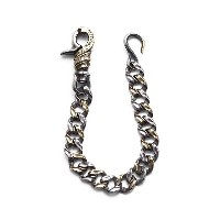 【CRIMIE/クライミー】CRIMIE MIGHTY SHORT WALLET CHAIN (SILVER×BRASS) [C1G1-CXAG-MW02]