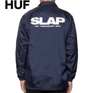 HUF X SLAP Coaches Jacket Navy L コーチジャケット