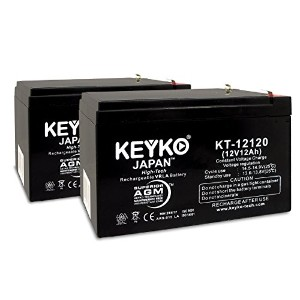 12V 12Ah SLA シール Lead Acid AGM Rechargeable リプレイスメント バッテリー Genuine KEYKO R (W/F2 Terminal) - 2 パック ...