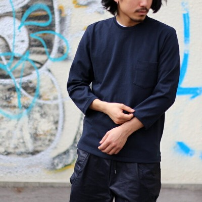 【MR.OLIVE:ミスターオリーブ】M-7168LIMITED 12/1 EMERALD HEAVY WEIGHT PLAINSTITCH ONE POINT CREW NECK 9/10...