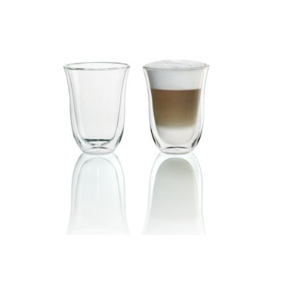 DeLonghi Double Walled Thermo Latte Glasses, Set of 2 [並行輸入品]