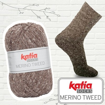 katia 靴下用毛糸 Merino Tweed Socks 50