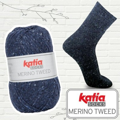 katia 靴下用毛糸 Merino Tweed Socks 55