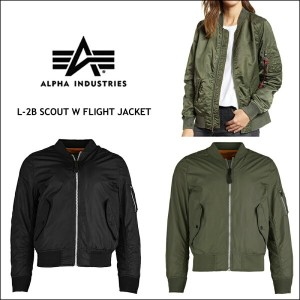 20%OFF 【ALPHA INDUSTRIES】アルファ インダストリーズ レディース ライト ジャケット L-2B MA-1 フライトジャケット 軽量 耐水性 通気性 SCOUT W...