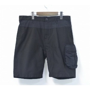 【中古】 XLARGE (エクストララージ) CARGO SHORT カーゴショーツ 16SS BLACK L ブラック SHORT PANTS ショートパンツ SHORTS HALF ハーフパンツ...