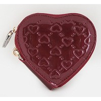 [FROMb]牛革ハートポーチheart coin wallet (ワイン)