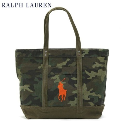 "POLO Ralph Lauren ""CAMOUFLAGE"" Canvas Tote US ポロ ラルフローレン メンズ キャンバス 迷彩柄 トートバッグ"