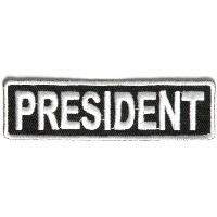 President Patch 3.5 Inch White - By Ivamis Trading - 3.5x1 inch by Ivamis Trading [並行輸入品]
