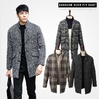 ★KOR DANGOON 2015 MEN OVER FIT COAT/CHECK/WARM TOUCH/HOT SALE/HIGH QUALITY