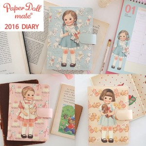 [Afrocat][Made In Korea] Paper Doll Mate Daily Diary 2016 Daily Book Writing Schedule Memo...