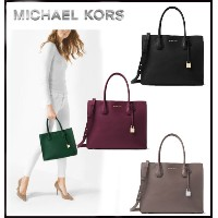 MICHAEL KORS★MERCER LARGE BONDED-LEATHER TOTE  【ご予約商品】 10日前後でのお届け予定です。