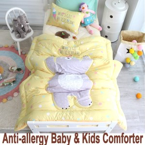 99.9% Antibacterial Anti-allergy★BABY COMFORTER + PILLOW COVER Set★Infant Toddler/Blanket Quilt...