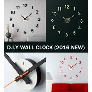 ★Super Sale★ ★2016 New Version★Korea Patent DIY Wall Clock/Easy to install/Strong Hand/Zero Noise...
