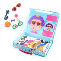 Magnetibook Funny Face Decoration/Magnetic Board/12 faces and 71 magnetic face pieces/Easy...