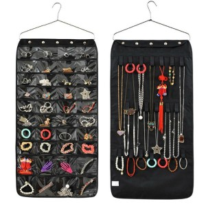 New Jewellery &amp  Accessories Organiser Hanging Storage Bag With Hook 40 Pockets Cosmetic...