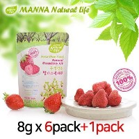 MANNA Natural Life / Freeze Dried Snack Natural Strawberry100 / 8g(6P+1P)