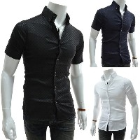 Men s Shirt Formal Brand Short Sleeve Dress Shirt Men Business Men Shirts Big Size