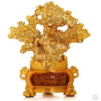 Lucky brave toad Sanyangkaitai Pachira money tree ornaments home decor opening ceremony