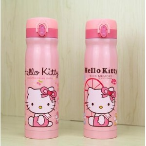 Hello Kitty KT Cat Vacuum Insulation Cup Cute Stainless Steel Child Thermos Bottle with Lock