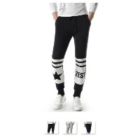 KOOLLOOK MZP05 TheLees Running Trousers Star and ZEST Print Active Jogger Sweatpants
