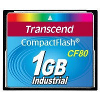 Transcend TS1GCF80 1GB CF CARD (80X  TYPE I )
