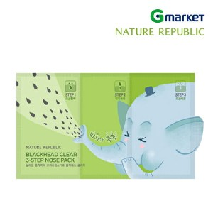 【NATURE REPUBLIC】【ネイチャーリパブリック】ブラックヘッド クリア 3-STEP ノーズパック/Blackhead Clear 3 Step Nose Pack/3g+0.2g+3g...