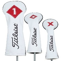 【即納】【あす楽対応】★タイトリストTITLEIST PREMIUM LEATHER HEADCOVER SET/3 WHITE