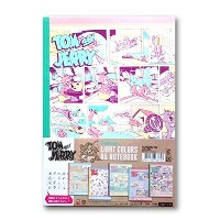 TOM and JERRY LIGHT COLORS B5 NOTEBOOK