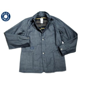 【期間限定30%OFF!】POST OVERALLS(ポストオーバーオールズ)/#2131L SB40L CONE 7oz DENIM x TRASHED WOOL JACKET/indigo