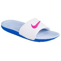 (取寄)ナイキ レディース カワ スライド Nike Women's Kawa Slide White Fire Pink Coment Blue Aluminum