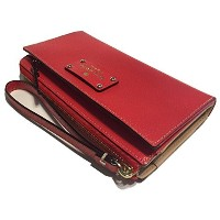 kate spade ケイトスペード Layton Wellesley Lacquer red red 赤 leather レザー 革 Tech Wallet clutch クラッチ...