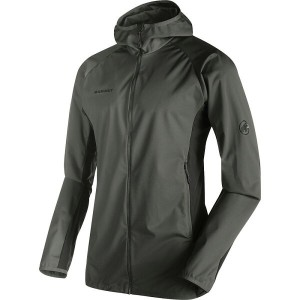 マムート Mammut メンズ アウター ジャケット【Kento Light SO Hooded Jacket】Titanium/Dark Titanium