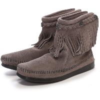 【SALE 10%OFF】ミネトンカ MINNETONKA HI TOP BACK ZIP(GREY) レディース