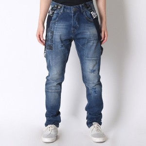 【SALE 46%OFF】デシグアル Desigual DENIM_BAGGJEAN (DENIM DARK BLUE)