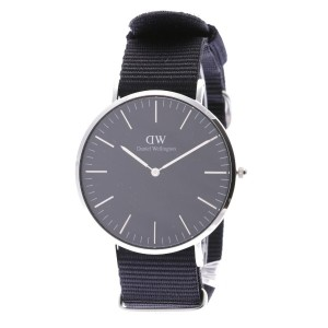 【SALE 35%OFF】ダニエル ウェリントン Daniel Wellington CLASSIC BLACK Cornwall Silver 40mm (BLACK)
