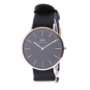 【SALE 35%OFF】ダニエル ウェリントン Daniel Wellington CLASSIC BLACK Cornwall Rose gold 40mm (BLACK)