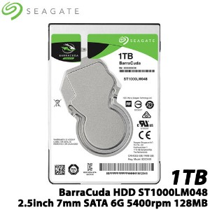 SEAGATE(シーゲート) ST1000LM048 [BarraCuda(1TB HDD 2.5インチ 7mm SATA 6G 5400rpm 128MB)]