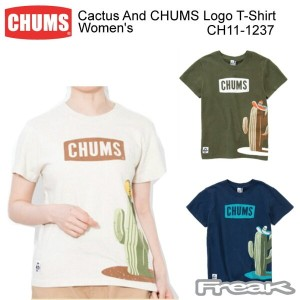 CHUMS チャムス CH11-1237 Cactus And CHUMS Logo T-Shirt Women's カクタスアンドチャムスロゴTシャツ  ※取り寄せ品