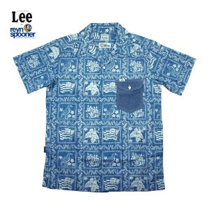 Lee × REYN SPOONER リー × レインスプーナー OPEN COLLOR SHIRTS LS1238-42(BLUE)