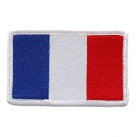 "Embroidered FRENCH Flag PATCH, Iron-On / Sew-On - 3"" x 2"""