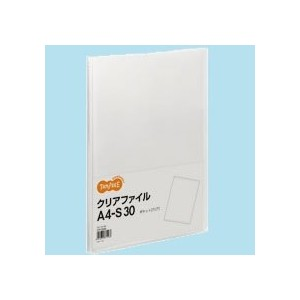 TANOSEE クリアファイル A4タテ 30ポケット 背幅17mm クリア 1セット(10冊)