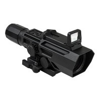 NC Star NcStar ADO 3 – 9 x 42mmx 40 mm、p4 Sniper Reticle with Flip UpレッドドットOptic、ブラック、1サイズ
