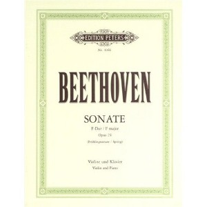 Partition classique EDITION PETERS BEETHOVEN LUDWIG VAN - SONATA IN F OP.24 'SPRING' - VIOLIN AND...