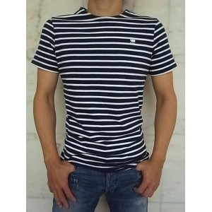 "G-STAR RAW[ジースター]【XARTTO RT S/S】""DRY JERSEY SUBMARINE STRIPE""""SLIM FIT""ショートスリーブボーダーTee★SARTHO BLUE..."