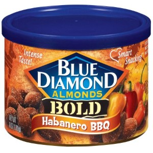 ◇ブルーダイアモンド◇ハバネロバーベキュー/Blue Diamond Almonds Bold Habanero BBQ Almonds 6 Oz Canister