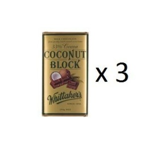 ウィッタカー Chocolate Block 33% Cocoa Coconut 250g 3EA [並行輸入品]