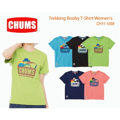CHUMS チャムス CH11-1098 Trekking Booby T-Shirt Women's トレッキングブービーTシャツ ※取り寄せ品