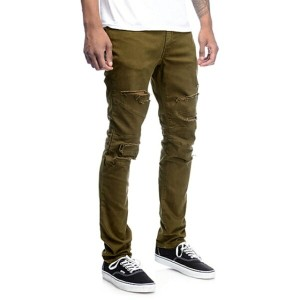 "【RUSTICDIME / rustic dime (ラスティックダイム)】 PANTS (ダメージパンツ) ""Olive Shredded Pants [16RDD-DS199BWO]""..."