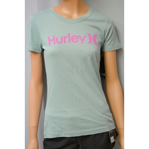 HURLEY WOMEN'S (ハーレー) S/S TEE ONE & ONLY PERFECT CREW 半袖 Tシャツ サーフィン SURFING