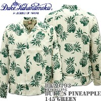 Duke Kahanamoku(デューク カハナモク)アロハシャツ『SPECIAL EDITION DUKE'S PINEAPPLE L/Sleeve』DK26793-145 Green
